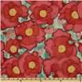 Michael Miller Cosmos Collection Worn Poppy Red