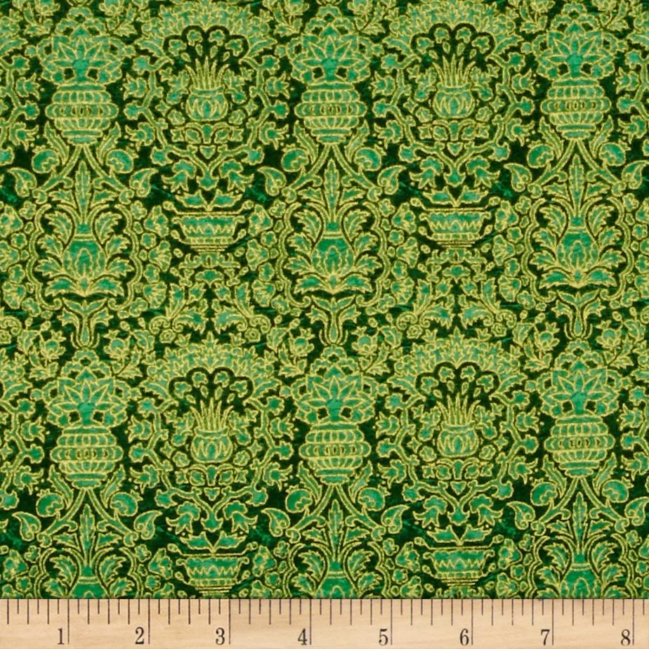 Seasons Greetings Damask Green