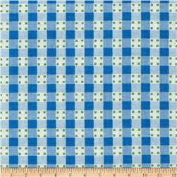 Anna Griffin Gladys Gingham Dot Blue
