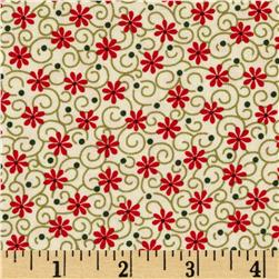 Always the Season Flower Swirl Red/Cream