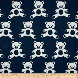 Premier Prints Teddy Twill Navy/White