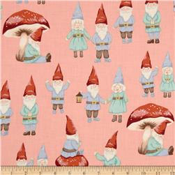 Christmas Time Gnome Sweet Gnome Pink Fabric