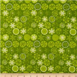 Christmas Cool Yule Snowflakes Green