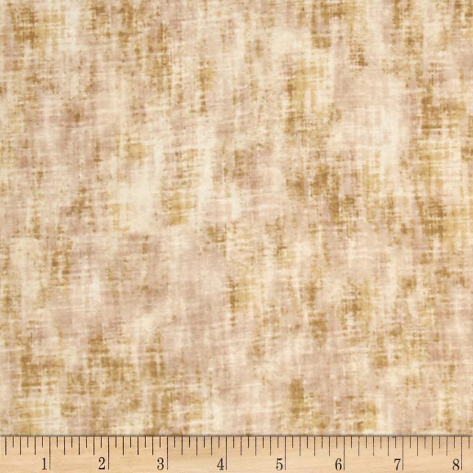 Timeless Treasures Studio Flannel Linen Texture Khaki