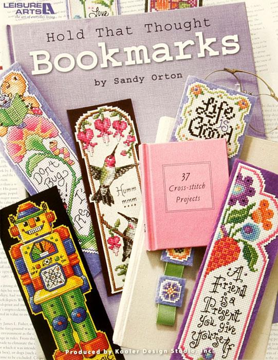 "Leisure Arts ""Hold That Thought Bookmarks"" Cross Stitch Book"