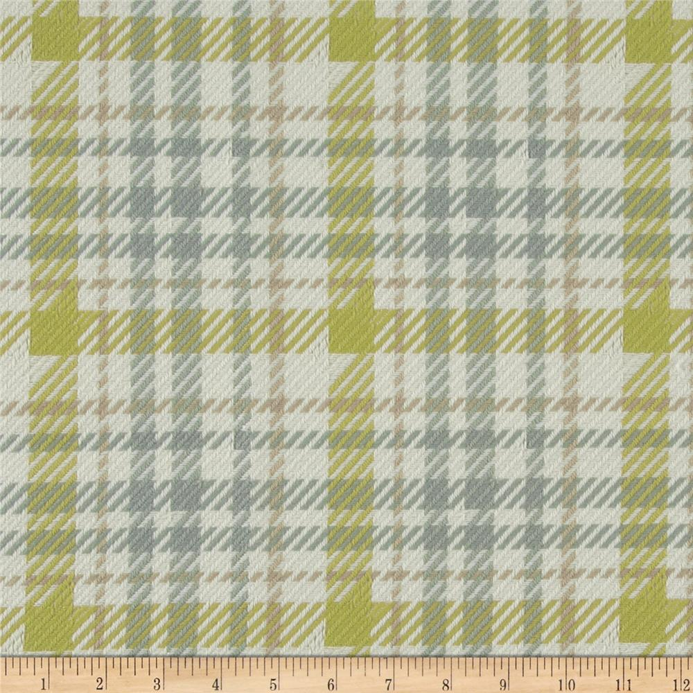 P Kaufmann Eureka Houndstooth Woven Upholstery Chartreuse