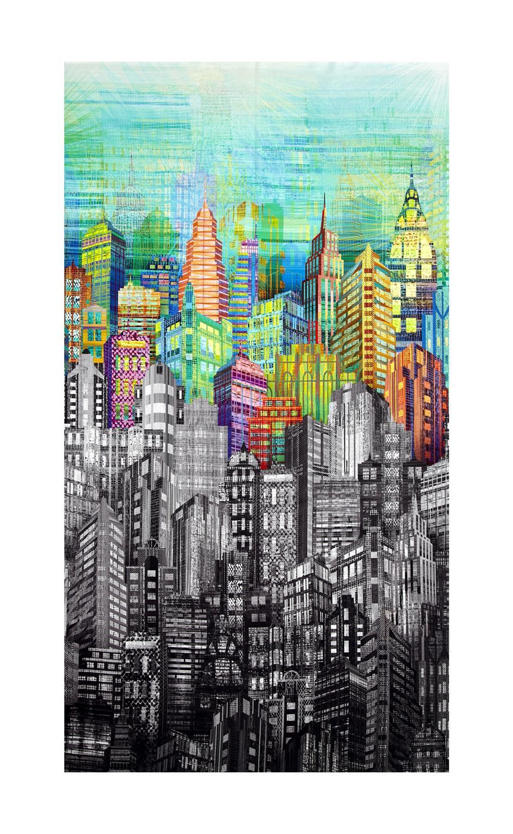 Skylines Digital Print Cityscape Prism