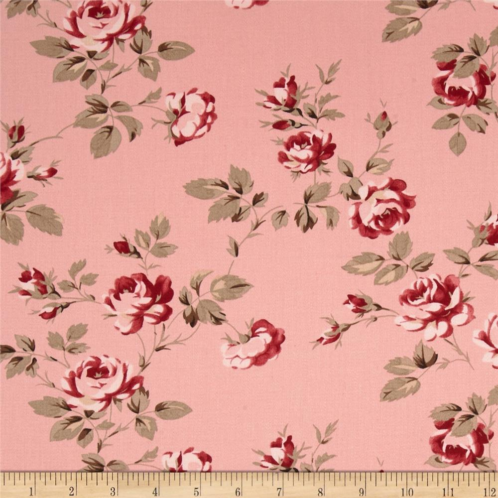 Tanya Whelan Petal Home Decor Sateen Scattered Roses Pink