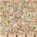 Alice In Wonderland Packed Floral Ecru/Green