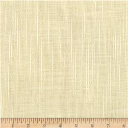 110'' Faux Linen Sheer Ivory Fabric