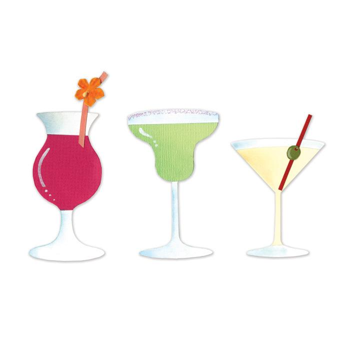Sizzix Sizzlits Die Set 3PK - Drinks Set #2