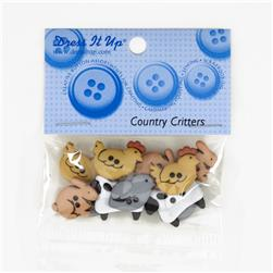 Dress It Up Embellisment Buttons  Country Critters