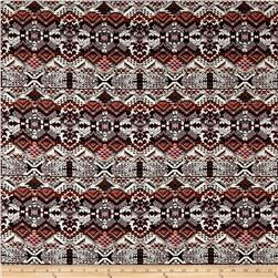 French Tribal Jacquard Red/Orange/Off White/Black