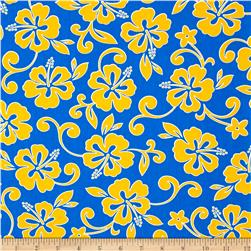 Robert Kaufman Paradise Pareaus 3 Small Tropical Royal