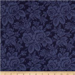 Timeless Treasures Tailormade Flannel Tonal Rose Navy