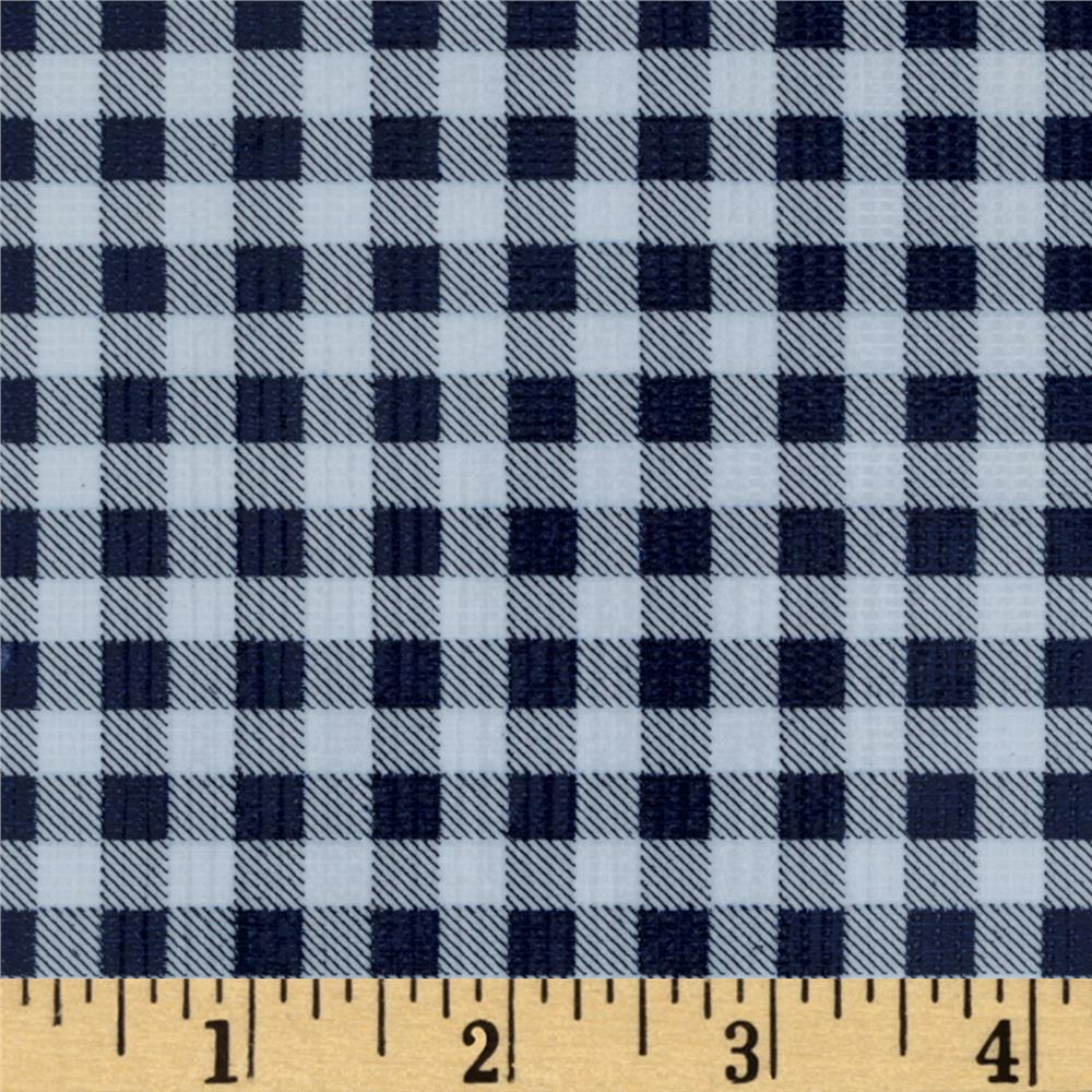 Oil Cloth Gingham Navy