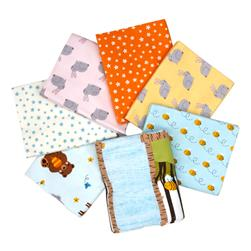 Kaufman Woodland Hideaway Flannel Fat Quarter Bundle Aqua
