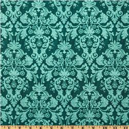 Autumn Festival Damask Tonal Teal