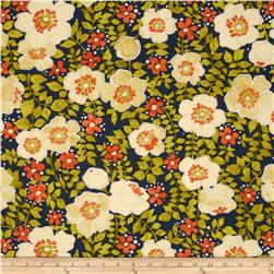 Dear Stella Floral Daze Navy Fabric