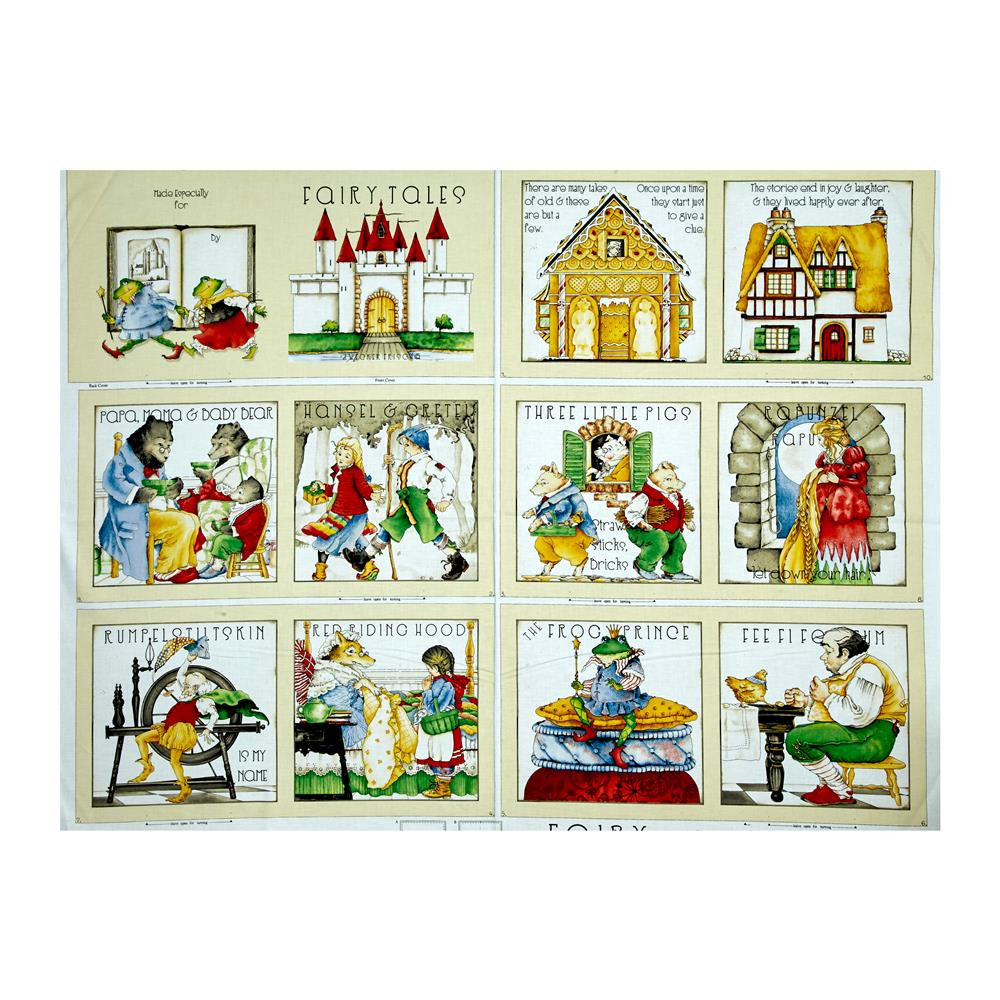 Classic Storybooks Fairy Tales Book 36'' Panel Multi Fabric