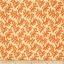 Robert Allen Promo Upholstery Leaf Frieze Orange Butter