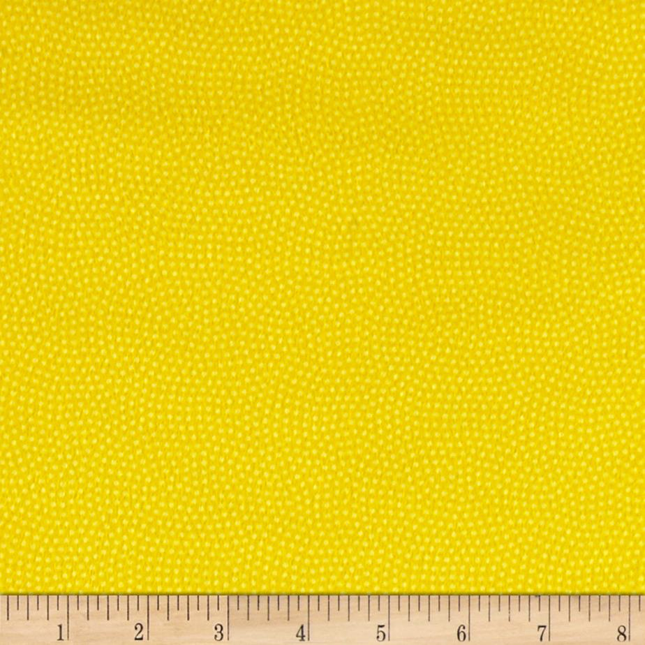 Timeless Treasures Flannel Spin Dot Lemon