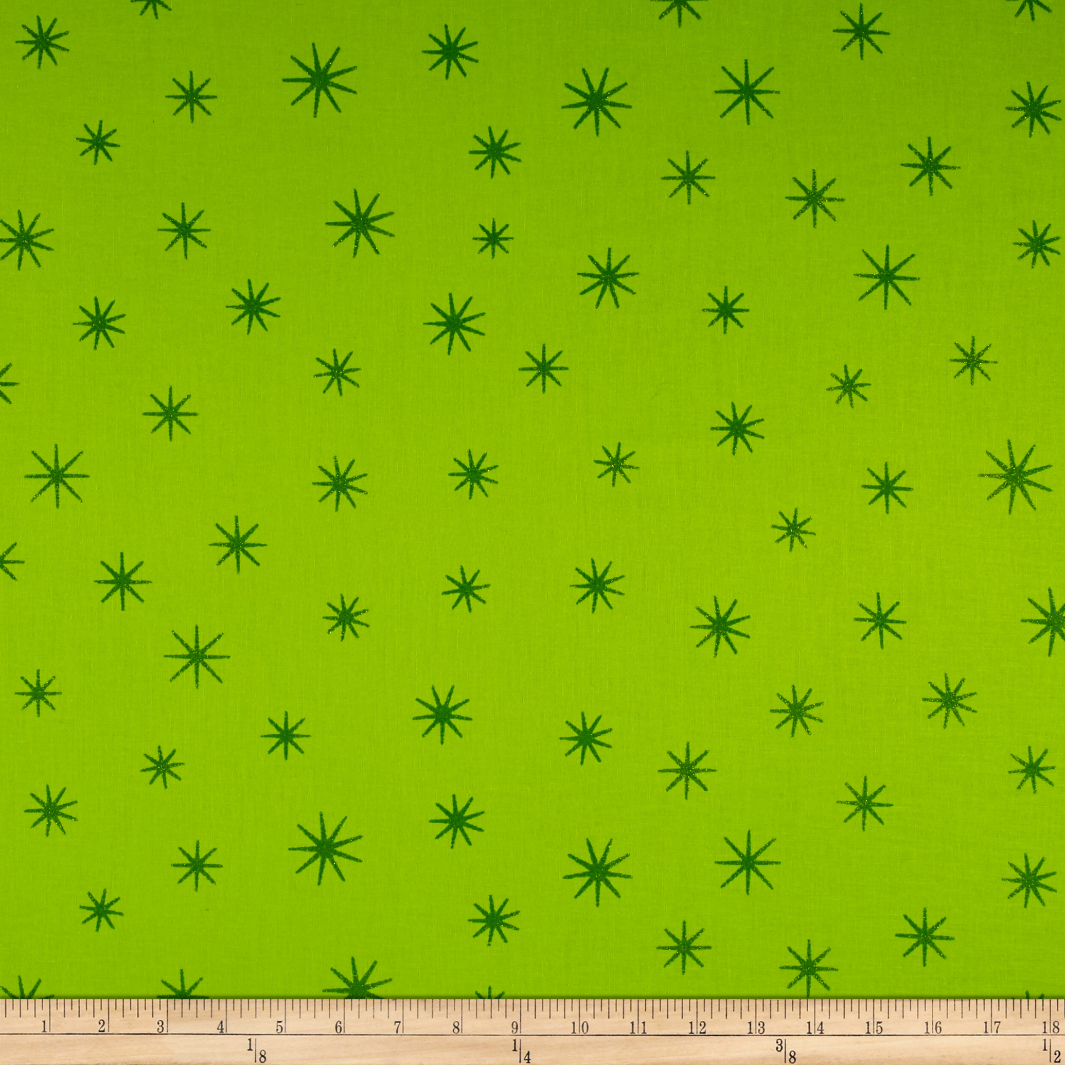 Shining Star Glitter Lime Fabric by Santee in USA
