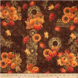 Maple Lane Metallic Pumpkins Brown