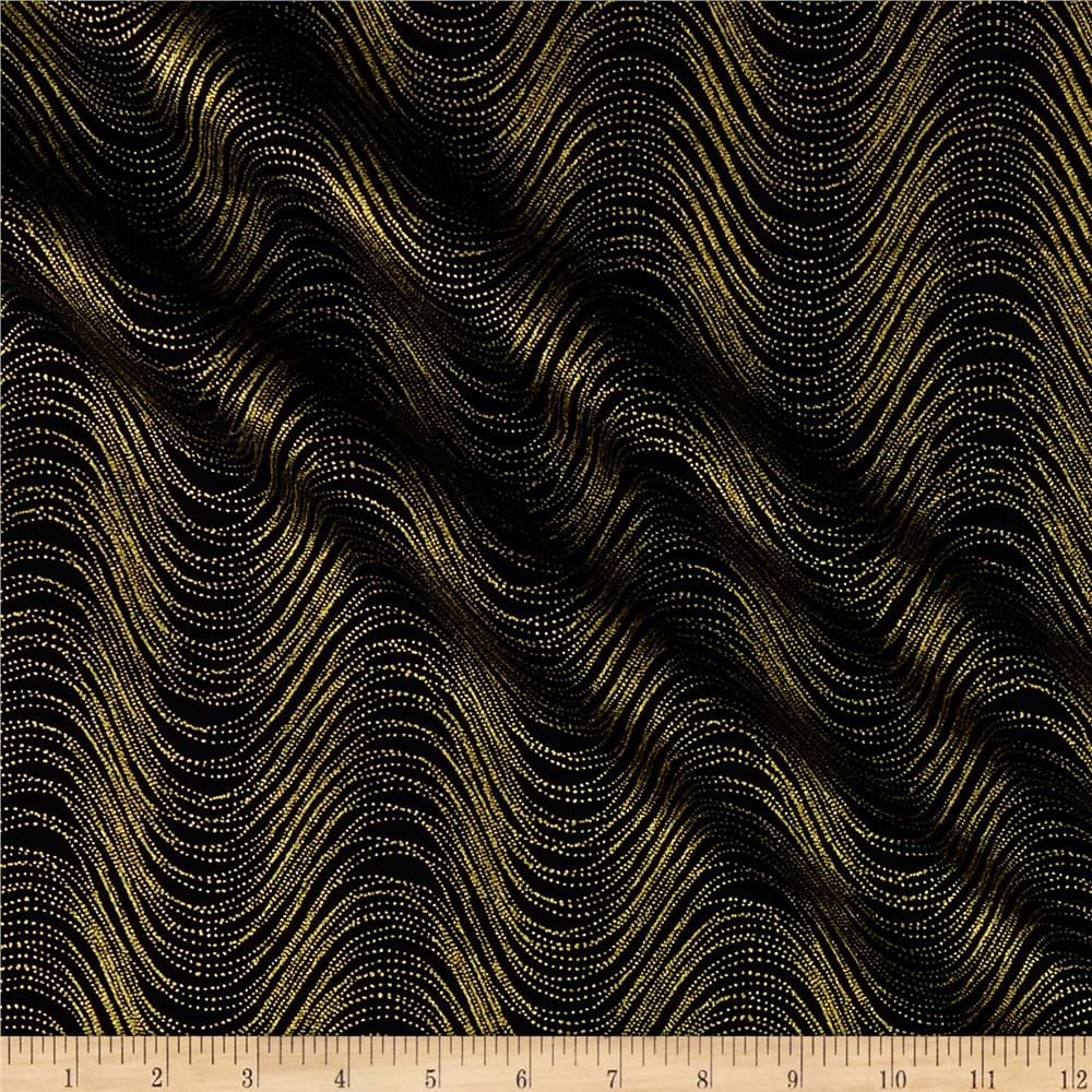 Kanvas Metallic Mixers Gold Metallic Wave Black Gold