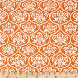 Riley Blake Happy Haunting Damask Orange
