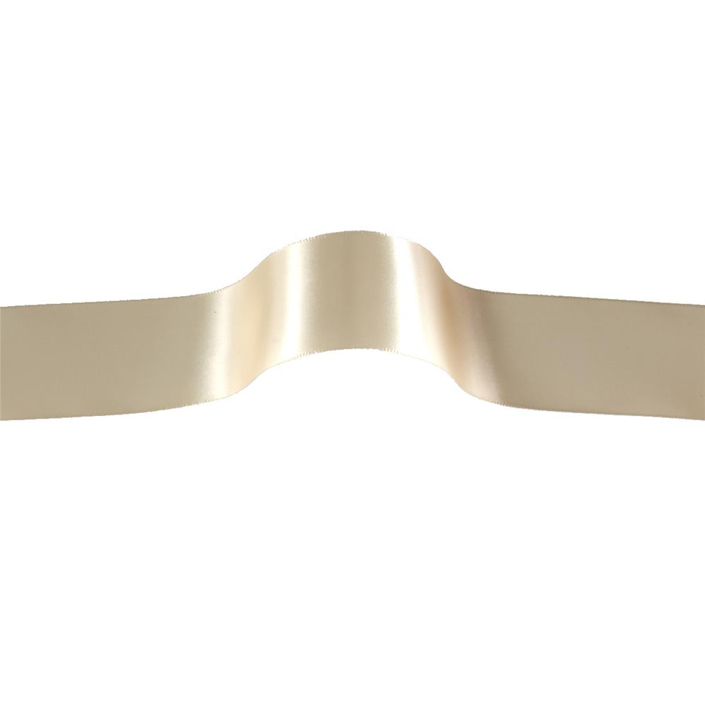"1 1/2"" Offray Single Face Satin Ribbon Cream"