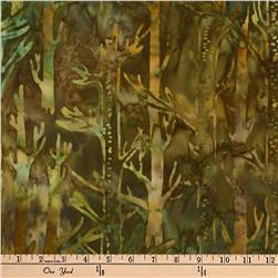 Kaufman Batiks Cornucopia 8 Tree Trunks Nature