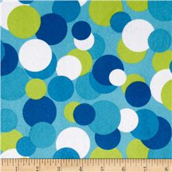 Minky Candy Circles Blue/Lime Blue
