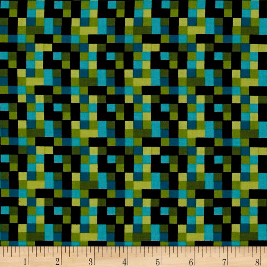 Kanvas Bedrock Check Aqua/Brown
