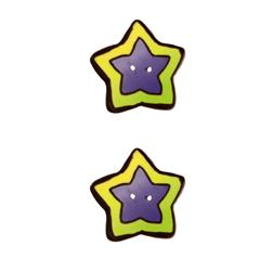 Novelty Button 7/8'' Starbright Lime/Purple