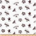 Collegiate Cotton Broadcloth Texas A&M White