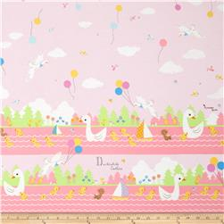 Kokka The Ugly Duckling Pink Fabric