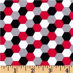 Laguna Stretch Cotton Jersey Honeycomb Red