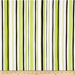 Kanvas Tempo Poppy Stripe Lime Fabric