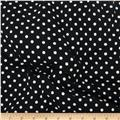 Telio Dakota Stretch Jersey Knit Polka Dots White/Black