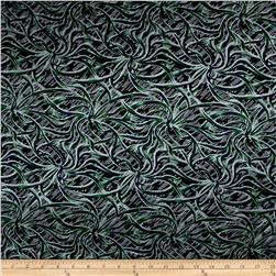 Silk/Rayon Burnout Tentacles Grey/Black/Green