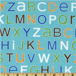 Alpine Train Flannel Alphabet Blue
