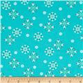 Moda Jingle Birds Snowflake Bluebird