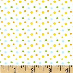 Aunt Polly's Flannel Small Polka Dot White/Multi