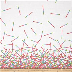 Pop Rox Confetti Double Border White