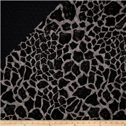 Double Sided Quilted Animal Skin Black