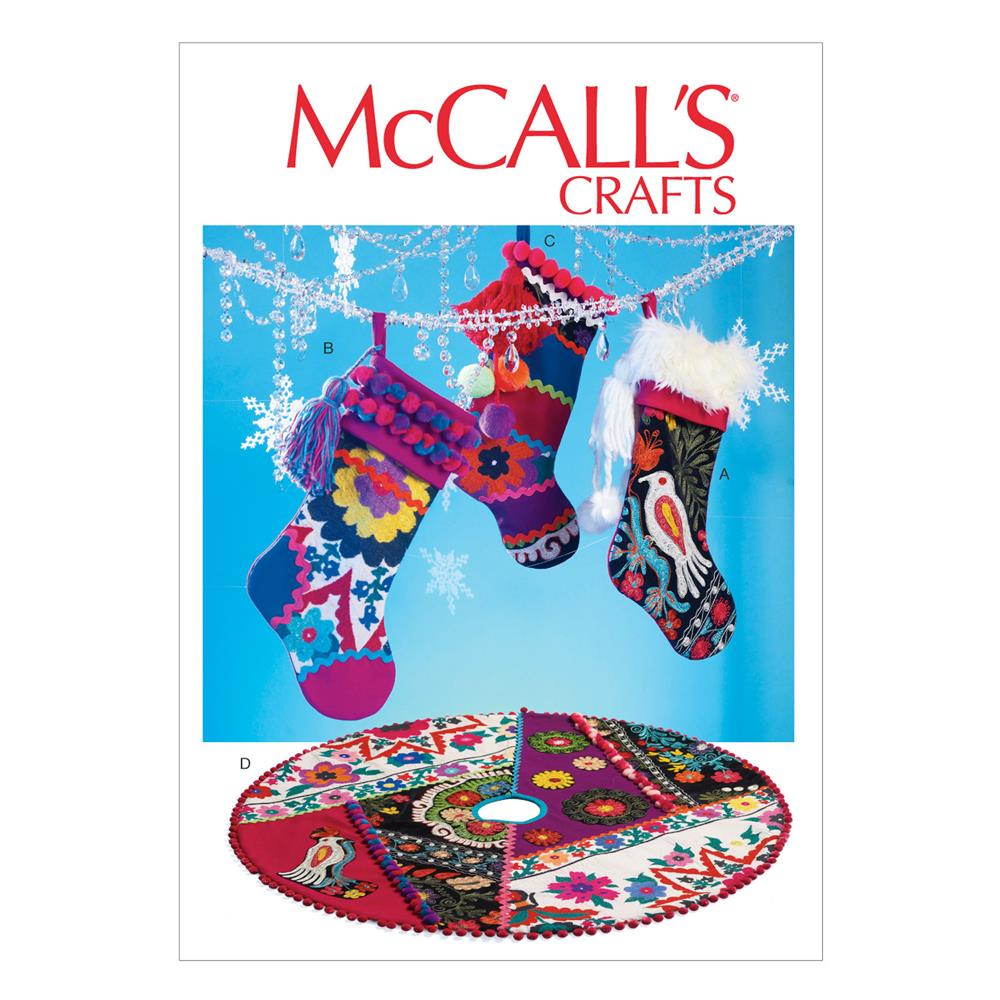 McCall's Stockings and Tree Skirt Pattern M6859 Size OSZ
