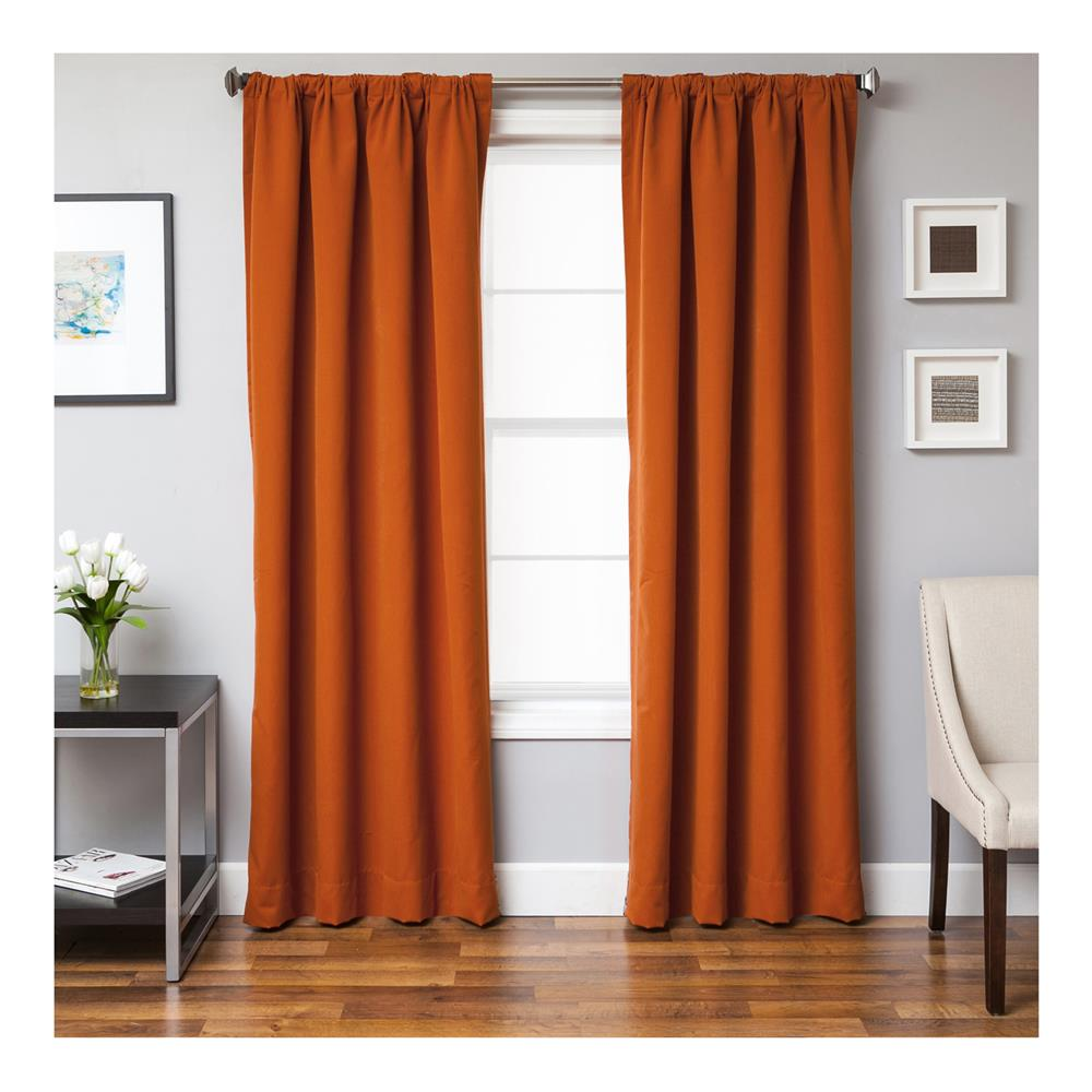 Sunbrella 84'' Solid Rod Pocket Curtain Panel Rust