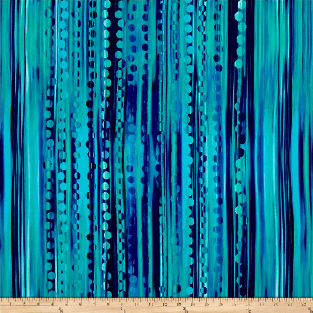 Kanvas Patio Splash Waterfall Turquoise/Peri