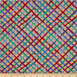 Kaffe Fassett Collective Mad Plaid Beige